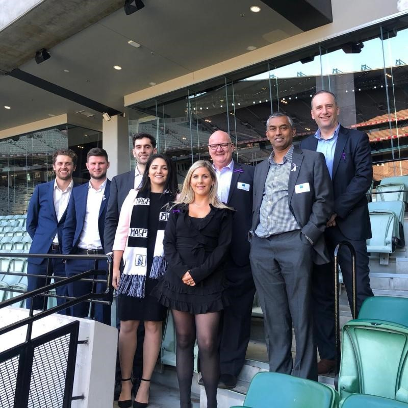 #TeamDCE at the MCG for the UDIA Victoria Annual Footy Lunch #WearItPurple